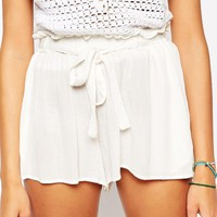 ASOS Woven Shorts with Paperbag Tie Waist