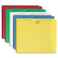 """Smead File Jacket, Reinforced Straight-Cut Tab (75688), 2"""" Expansion, Letter Size, Assorted Colors, Pack of 10"""