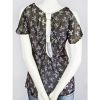Bow Woven Back Top