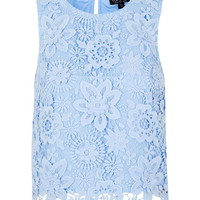 3D Lace Shell Top - Tops - Clothing
