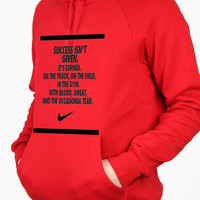 success nike quotes For Man Hoodie and Woman Hoodie S / M / L / XL / 2XL*AP*