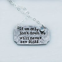 Hand Stamped Necklace - Custom Necklace - Personalized Necklace - Hand Stamped Jewelry