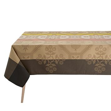 Hacienda Beige Coated Tablecloths & Placemats