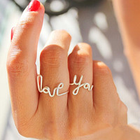 Unique Handmade LOVE YOU Shape Rings 3Pcs Tail Ring AnaeCadeau Gift-213