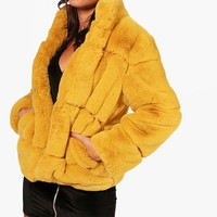 Ellie Boutique Faux Fur Coat | Boohoo