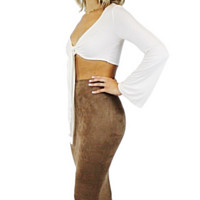 Jen Suede Fitted Skirt