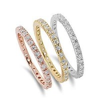 Silver Ring - 3 Color Bands