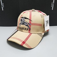 BURBERRY Fashion Casual Hat Cap Khaki