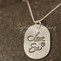 Silver Necklace made from Your ACTUAL Signature or Handwriting