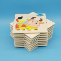 Wooden Baby Toys 28 Models Puzzles MBF1