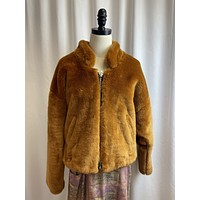 Free People Faux Fur Bomber (S)