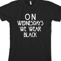 On Wednesdays We Wear Black-Unisex Black T-Shirt