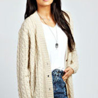 Poppy Cable Knit Cardigan