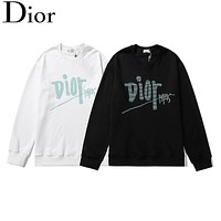 Dior autumn and winter new style sweater classic letters three-dimensional embroidery coat