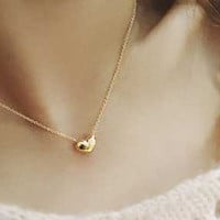 Cupshe Lovely Girl Heart Pendant Necklace