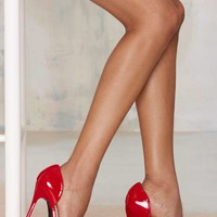 Nasty Gal Knock 'Em Dead D'Orsay Pump - Red