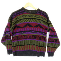 Vintage 80s Aztec Tribal Cosby Sweater - The Ugly Sweater Shop