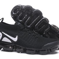 DCCK2 N327 Nike Air Vapormax Flyknit 2 Casual Running Shoes Black White