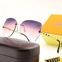 Louis Vuitton LV Woman Men Fashion Summer Sun Shades Eyeglasses Glasses Sunglasses-35