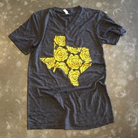 Yellow Rose Tee - Charcoal