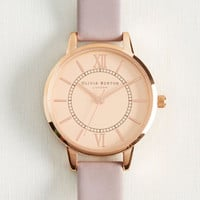 Head of the Classic Watch in Lilac & Rose Gold | Mod Retro Vintage Watches | ModCloth.com