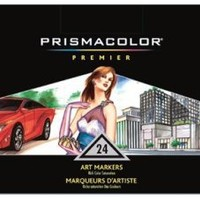 Prismacolor Premier Double Ended Art Markers, 24 Colored Markers(3721)