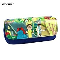 FVIP Anime Cosmetic Cases Cartoon Pencil Case Rick And Morty/ Harry Potter/ Totoro/ The Joker Make Up Bag