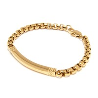 Men's Small Gold Chain Bracelet