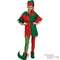 Women's Christmas Costume: Elf Tights-Medium