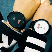 "Great Deal ""Supreme"" Stylish Good Price Trendy Designer's New Arrival Awesome Gift Couple Simple Design Korean Watch [9361196935]"