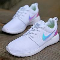 """""""NIKE"""" Women Casual Laser Running Sport Shoes Sneakers White"""