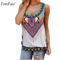 S-5XL Summer Bohemian Loose Long Women Tops Print Beach Casual Tank Top Plus Size Women Clothing Sexy camiseta