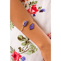 Gemma Gemstone Bracelet (Purple)