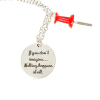 Paper Towns Push Pin Necklace