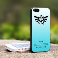The Legend of Zelda iForce Mint Tri - For iPhone 4,4S Black Case Cover
