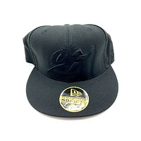 New Era 59FIFTY Washington Wizards All Black Fitted Hat
