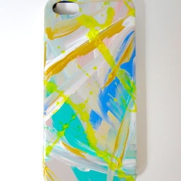 iPhone 5/5s Cellphone Case Abstract Original Artwork Contemporary Painting Hand Painted Art