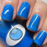 Neon Shimmer Jelly Blueberry Nail Polish