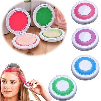 4Pcs Non-Toxic DIY Temporary Hair Chalks Dye Pastels Beauty Tools Salon Kit