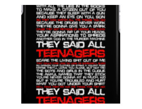 Teenagers Lyrical (My Chemical Romance) iPhone Cases & Skins