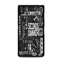 5 Seconds of Summer Songs Collage Black For Sony Xperia Z3 Case