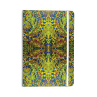 """Nikposium """"Yellow Jacket"""" Green Abstract Everything Notebook"""