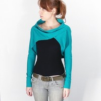 Turquoise Long Sleeve Shrug Bolero also in by bevisible on Etsy