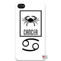 Premium Direct Print Cancer Sign Zodiac Horoscope Symbol iphone 6 Quality Hard Snap On Case for iphone 6/Apple iphone 6 - AT&T Sprint Verizon - White Case PLUS Bonus RCGRafix The Best Iphone Business Productivity Apps Review Guide