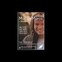 Mac DeMarco - November 2017 UK Dates Mini Poster - 25.4x20.3cm