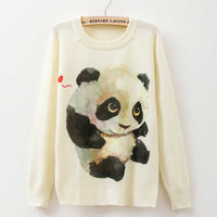 Rose Garden Owl Bird Print Women Sweaters And Pullover 2016 Autumn winter Harajuku fashion Brand Knitwear sweater coat Plus Size