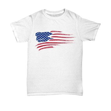 Fourth of July Distressed American Flag Shirt
