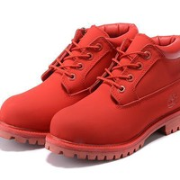 Timberland Anti Fatigue Outdoors Classics Shoe Boots Red