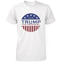 Trump Donald For President 2016 Campaign Men's Tshirt White Short Sleeve Shirts