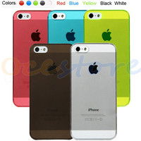 5 Colors Ultra Thin Crystal Clear Snap On Hard Case Cover for iPhone 5 5G 5th